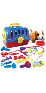 Kidzlane Pretend Play veterinarian set vet toys vet kit for kids pretend vet kit doctor vet set 3+