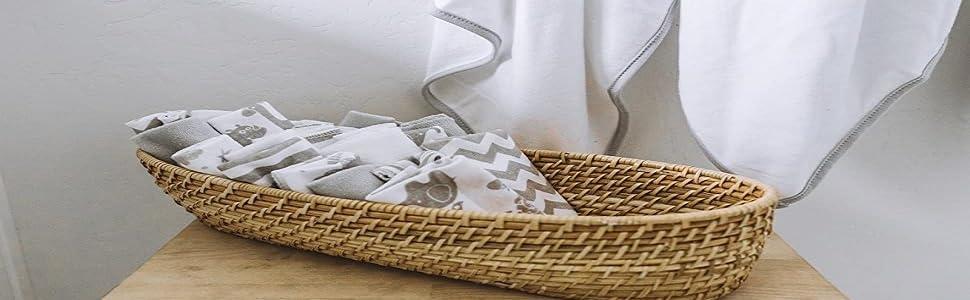 Baby washcloth muslin cotton