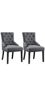 Yaheetech Wingback Dining Bar Chairs
