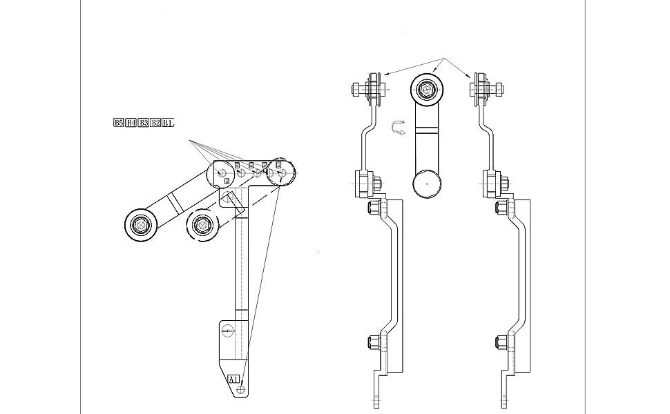 Adjustable link arm