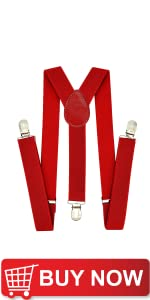 Red Suspenders and Bow Tie Sets