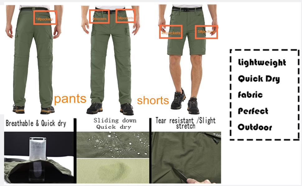 fishing clothes for men tactical pants mens convertible pants convertible cargo pants