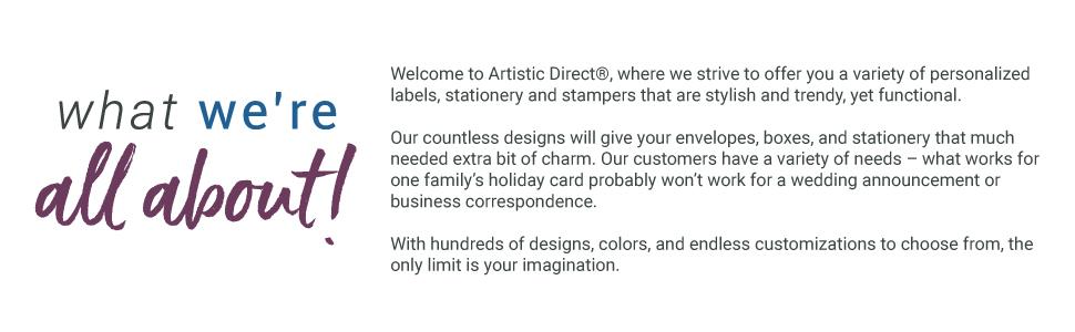 artistic direct return address labels personalized custom stamp