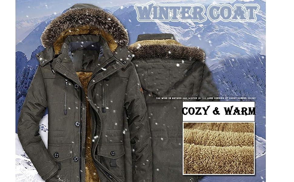 China Heavy Duty Mens Navy Waterproof Winter Parka Coat