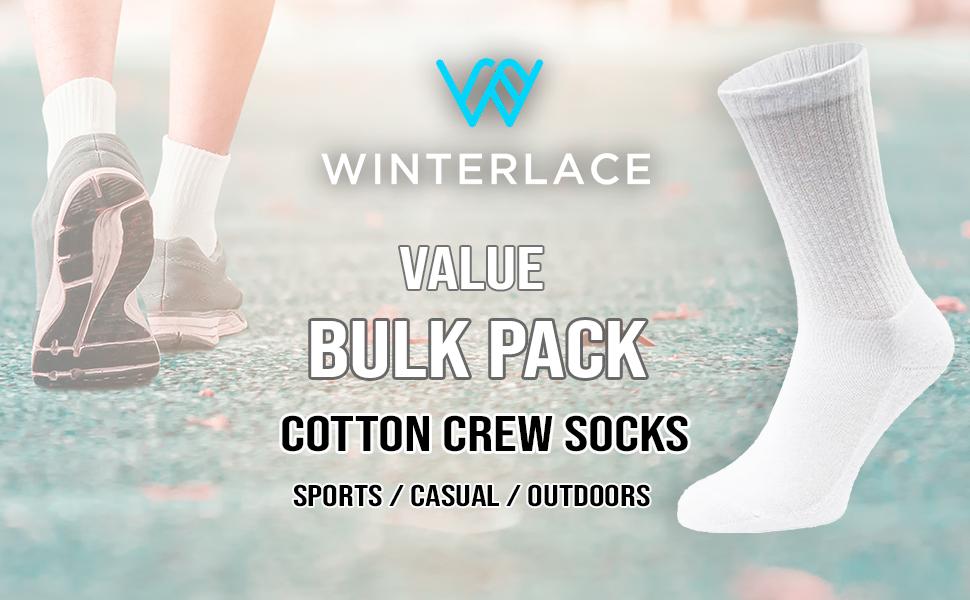 bulk wholesale basic cotton crew socks
