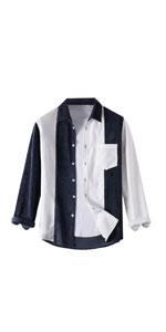 Corduroy Shirt Patchwork Jacket Coat