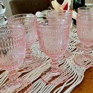 retro wine glasses vintage champagne glasses vintage champagne glasses pink drinking glasses set