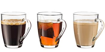coffee, tea, and cappuccino mugs, glasses,