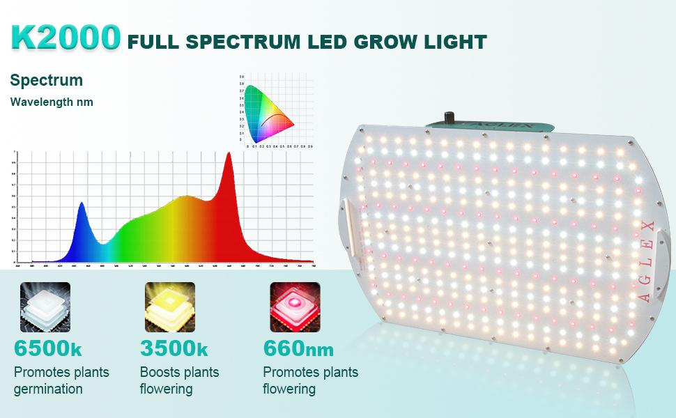 K2000 Full spectrum led grow light