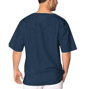 mens short sleeve hippie shirt