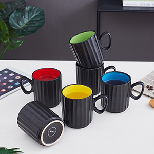 Coffee Mugs, 14 Ounces Large Handle Coffee Mug Set of 6, Ceramic Mug for Coffee, Tea, and Cocoa