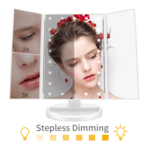 makeup mirror with lights dimmable