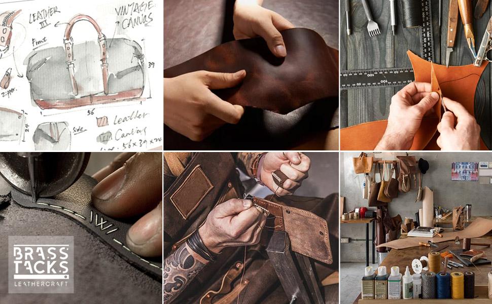 brass tacks leathercraft canvas bag for men