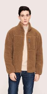 fleece jacket men work jacket outdoor sweater winter jacket coat thick thin full zip windproof