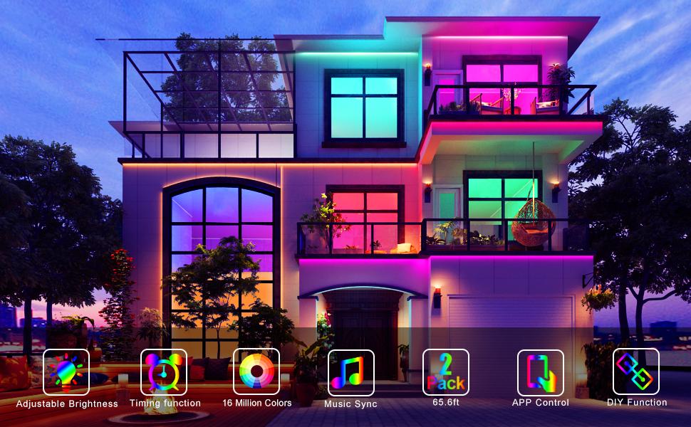 Jeryyen smart led strip lights