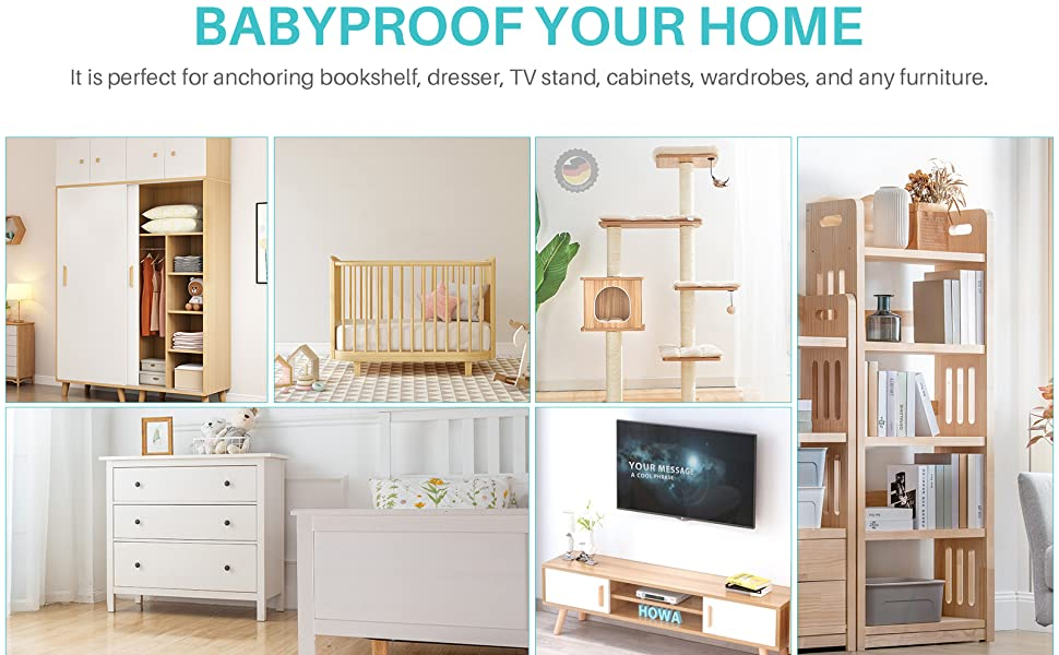 Furniture Straps for Baby Proofing