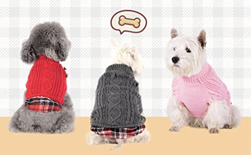 KYEESE Dog Sweaters with Leash Hole
