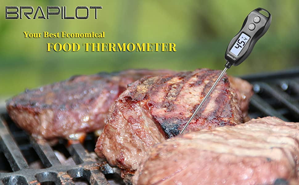 Digit Instand Read Food Thermometer for Meat Grill BBQ Candy Milk