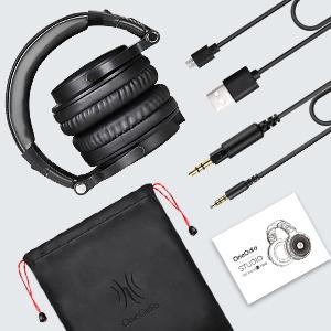 Wireless Bluetooth headphones.