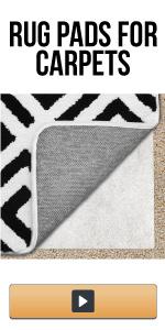 carpeted rug pad