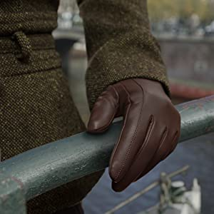 Downholme Touchscreen Leder Handschuhe mit Kaschmir Innenfutter f/ür M/änner Wahl der Farbe und Gr/ö/ße