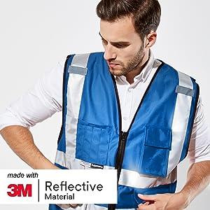 Mehreren Taschen und Rei/ßverschluss Salzmann 3M Arbeitsweste ausgestattet mit 3M Reflektierendem Material