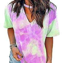 Tie Dye Shirts Womens Tops