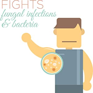 Fights fungal infections and bacteria
