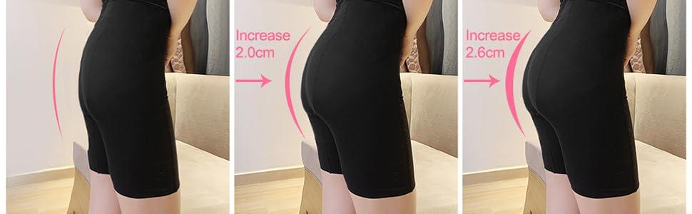 ONEFENG Almohadillas para Levantamiento de gl/úteos Pantalones Acolchados de Silicona para Mujer Fajas para realzar la Cadera Braguitas Gl/úteos de Bragas Hipster Ropa Interior para modelar el Cuerpo