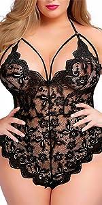 Women Plus Size Teddy Lingerie