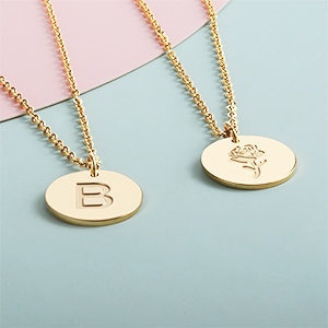 Great tiny letter initial necklace for her