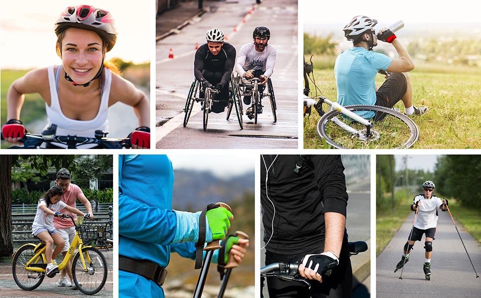 Guantes Bicicleta MTB BMX Ciclismo Montaña Carretera Fitness ...