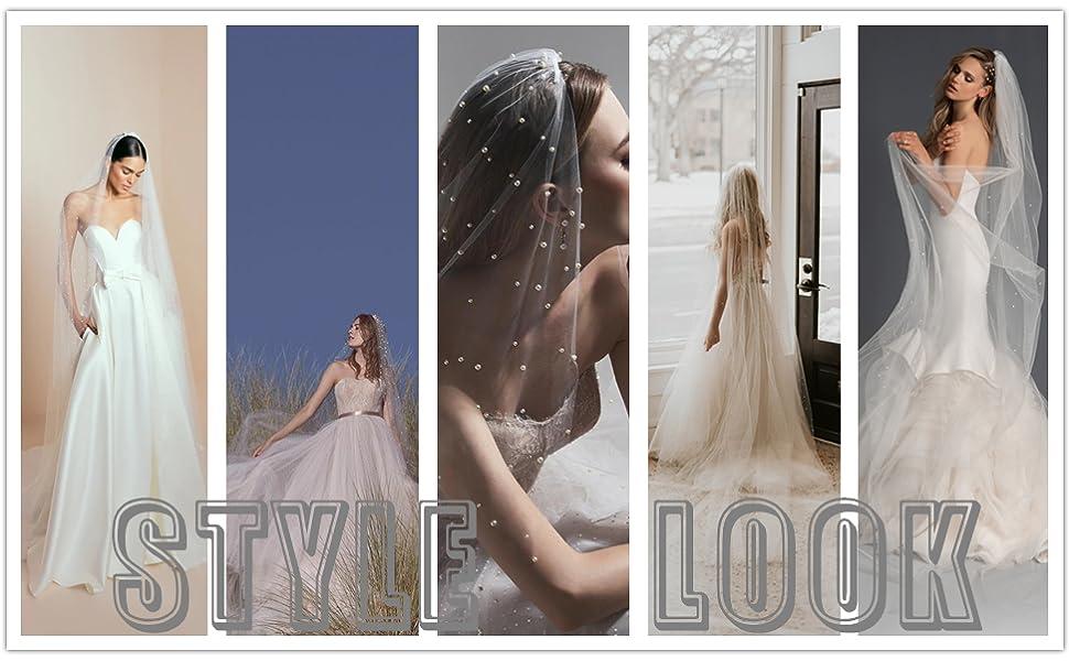 pearl bridal veil