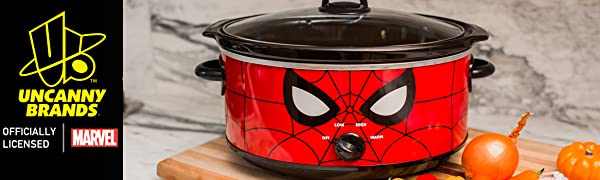 Uncanny Brands Marvel Spiderman Slow Cooker