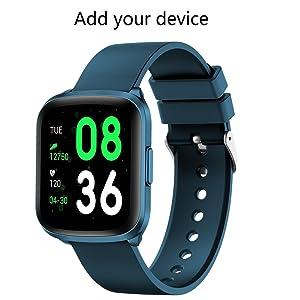 GOKOO Smart Watch for Men Women Fitness Tracker with All-Day Heart Rate Monitor Waterproof IP68 Sleep Monitor Pedometer Step Calorie Kilometer Music ...