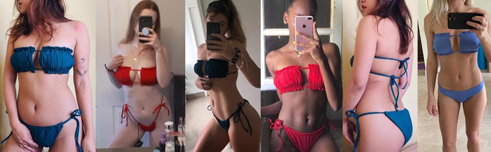 cutout bikini