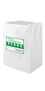 vaccume sealer bags for food pint quart gallon size