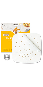 """6.5""""/7.5""""/8.5"""" Square Air Fryer Liners"""