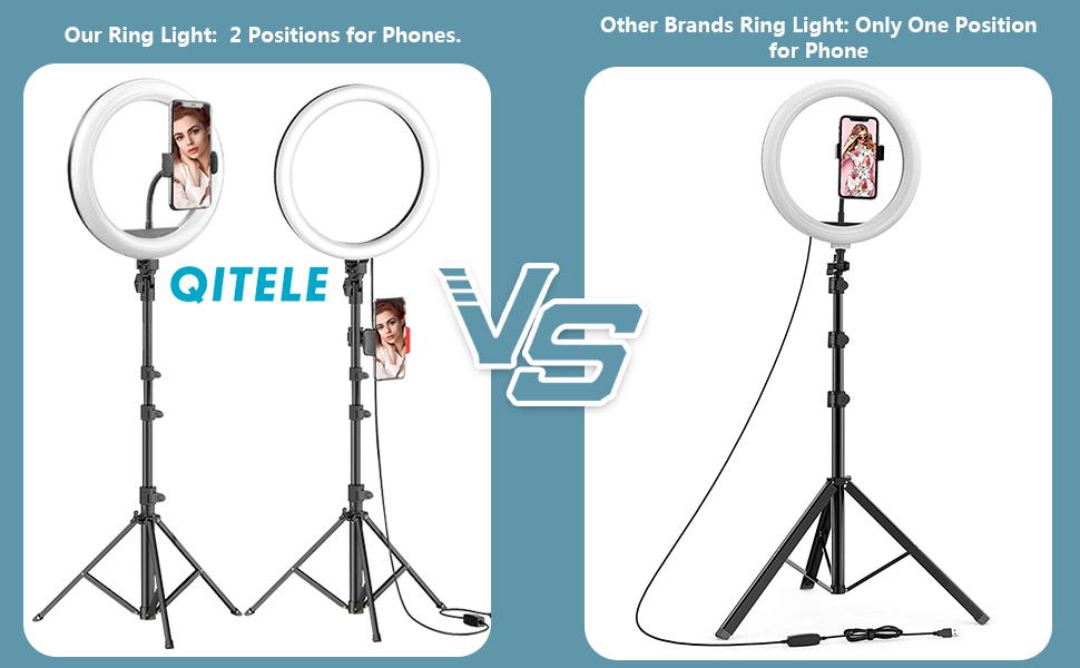 Tik Tok Selfie Ring Light with Tripod Stand Phone Holder for YouTube Compatible with iPhone Android