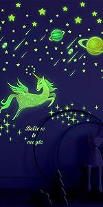 glow in the dark unicorn stars