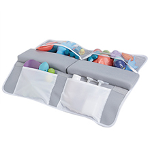 bath kneeler a+5 - Beiens Bath Kneeler With Elbow Rest Set, 1.5'' Thick Quickly Dry Kneeling Pad And Elbow Support For Knee & Arm Support Large Bathtub Kneeling Mat With Toy Organizer For Happy Baby Bathing Time (Grey)