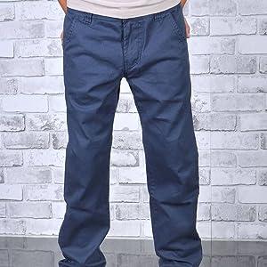 Pantalones vaqueros de cintura ancha para hombre y adolescente.