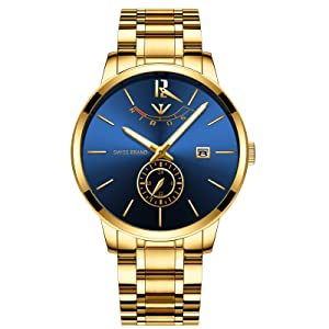 gold blue wacth