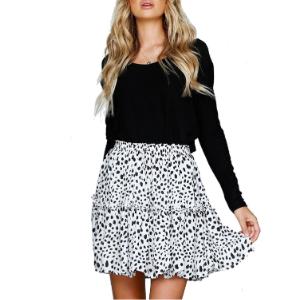 summer polka dot mini skirt