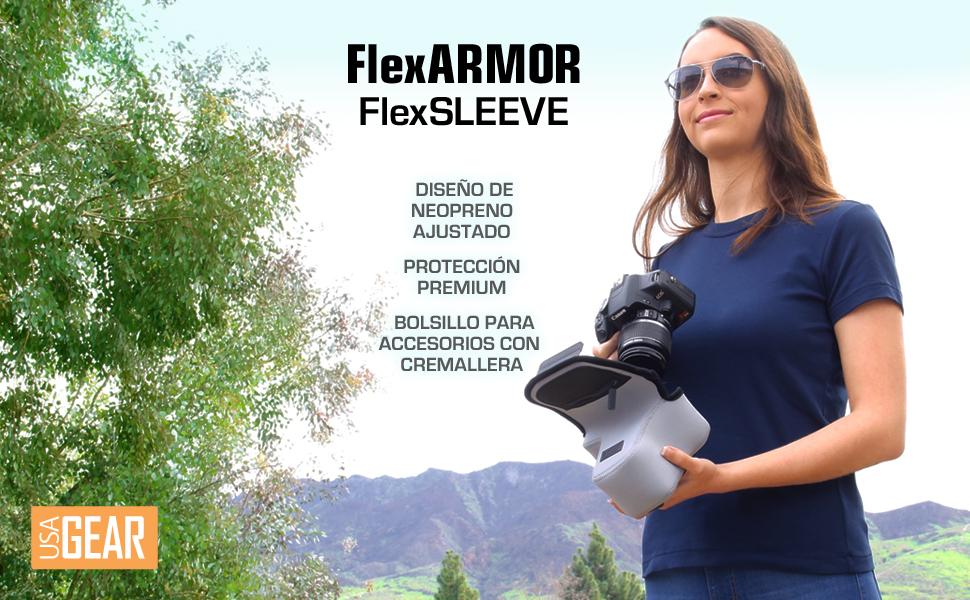 Neopreno bolsa de cámara para la protección de la cámara-equipamiento estuche forradas