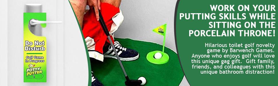 Toilet Golf Novelty Gift Game