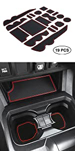 Tacoma center console and door pocket liner
