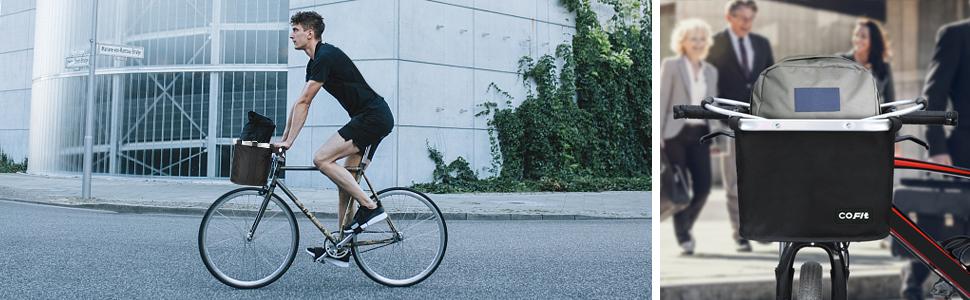 Panier Polyvalent de Poign/ée de Bicyclette pour Transporteur d/'Animaux Domestiques Camping en Plein Air Porte-Documents Banlieue COFIT Panier /à v/élo Pliable Sac d/épicerie
