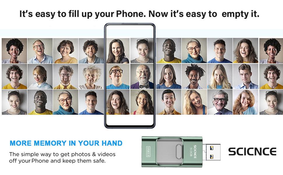 usb flash drive for phone flash drive phone memory stick phone photo stick phone flash drive 512gb