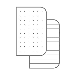dot-graph ruled paper